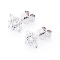 Серьги из белого золота с бриллиантами, фото