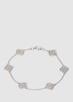 Золотой браслет с подвесками в бриллиантах, фото