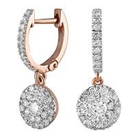 Серьги из золота с бриллиантами, фото
