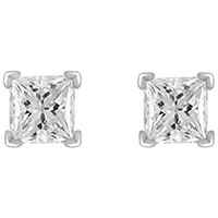 Серьги из белого золота с бриллиантами (1.16 ct), фото