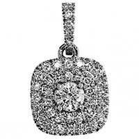 Кулон из белого золота с бриллиантами, фото