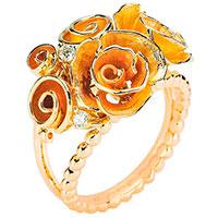 Кольцо Roberto Bravo Gallica Colors из желтого золота , фото
