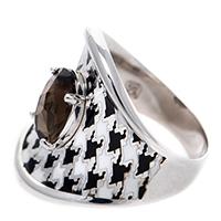 Серебряное кольцо 935 by Roberto Bravo с монохромным покрытием, фото