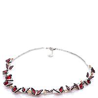 Ожерелье 935 by Roberto Bravo с красными бабочками, фото