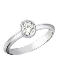 Серебряное кольцо 935 by Roberto Bravo с кварцем белого цвета, фото