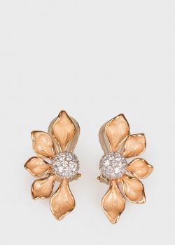 Золотые серьги Annamaria Cammilli с бриллиантами, фото