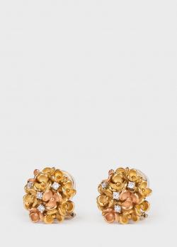 Серьги Annamaria Cammilli в желтом и розовом золоте, фото