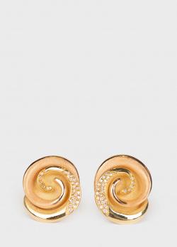 Серьги Annamaria Cammilli в виде спирали с бриллиантами, фото