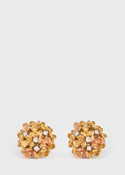 Золотые серьги Annamaria Cammilli Blossom в виде цветов, фото