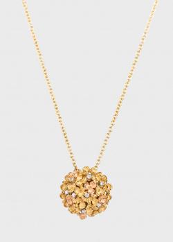 Золотое колье Anna Maria Cammilli с цветочной россыпью, фото
