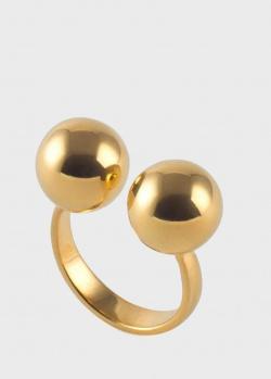 Позолоченное кольцо Misho Density из латуни, фото