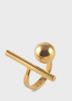 Крупное кольцо Misho Density из позолоченной латуни, фото