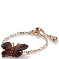 Мягкое безразмерное кольцо-цепочка Roberto Bravo Global Warming с подвесом в форме бабочки, фото