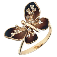 Кольцо Roberto Bravo Global Warming с бабочкой , фото