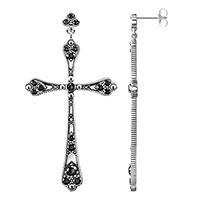 Пусеты-крестики Thomas Sabo с цирконами, фото