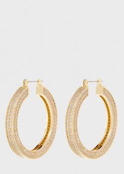 Серьги-кольца Luv Aj Pave Celine с россыпью камней, фото