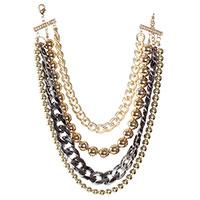 Многослойное колье Jewels с бусинами, фото