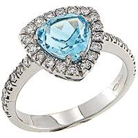 Кольцо D-Donna Ruggero Broggian Crystal из белого золота с бриллиантами, фото