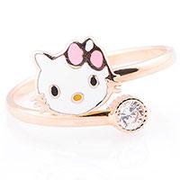 Детское кольцо Hello Kitty с фианитом, фото