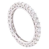 Бриллиантовое кольцо  из белого золота, фото