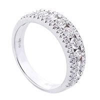 Широкое кольцо Оникс с россыпью бриллиантов, фото
