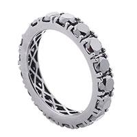 Золотое кольцо с черными бриллиантами, фото