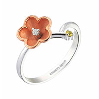 Кольцо Roberto Bravo Kareena с коричневым цветком, фото