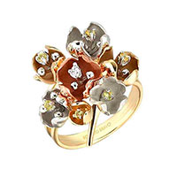 Кольцо Roberto Bravo Kareena с цветами , фото