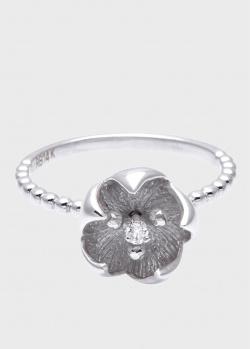 Кольцо Roberto Bravo Kareena с цветком и бриллиантами, фото