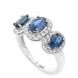 Женское кольцо с драгоценными камнями, фото