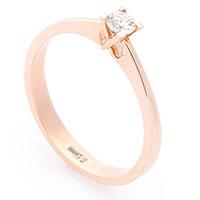 Кольцо помолвочное Оникс с белым бриллиантом, фото