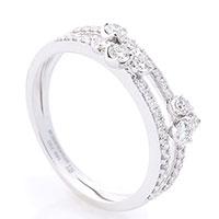 Кольцо из белого золота Оникс с бриллиантами, фото