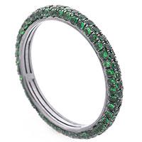 Кольцо с зеленым демантоидом, фото