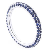 Кольцо с синими сапфирами, фото