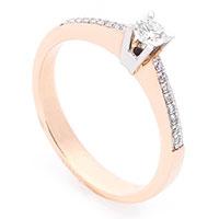 Кольцо Оникс из красного золота с бриллиантами, фото