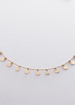 Ожерелье из желтого золота с декором в форме монет, фото
