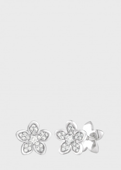 Серьги Art Vivace Jewelry Сирень из белого золота, фото