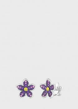 Серьги Art Vivace Jewelry Сирень из золота с топазом Violac, фото