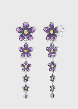Серьги Art Vivace Jewelry Сирень с сапфирами, фото