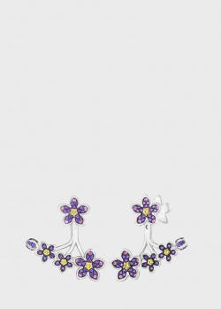 Серьги Art Vivace Jewelry Сирень из белого золота с топазом Violac, фото