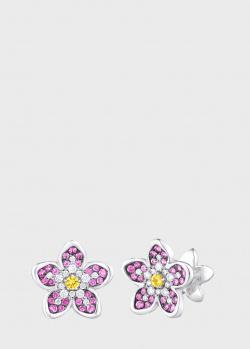 Серьги Art Vivace Jewelry Сирень с желтым сапфиром, фото