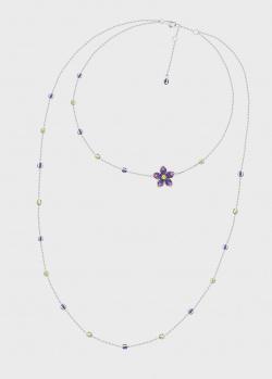 Колье Art Vivace Jewelry Сирень с сапфирами, фото