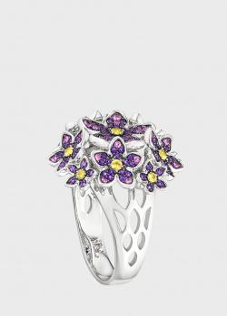 Кольцо Art Vivace Jewelry Сирень из белого золота и сапфиров, фото