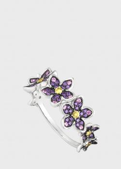 Кольцо Art Vivace Jewelry Сирень из золота с сапфирами, фото