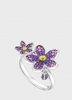 Кольцо Art Vivace Jewelry Сирень из золота с топазом Violac, фото