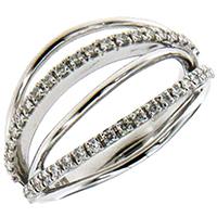 Широкое кольцо Mirco Visconti с бриллиантами, фото