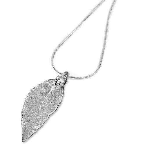 Колье Ester Bijoux Лист черешни в серебре, фото