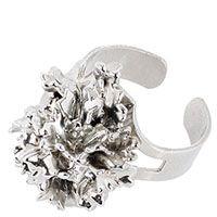 Кольцо Ester Bijoux с листком кучерявой петрушки в серебре, фото