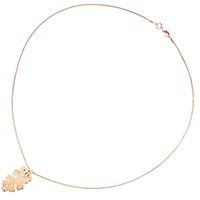 Подвеска Ester Bijoux с маленьким листочком дуба в розовом золоте, фото