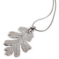 Колье Ester Bijoux Дубовый листок в серебре, фото